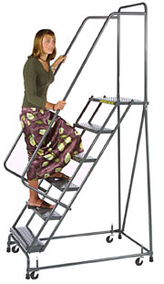 Pivoting Rolling Ladder