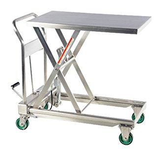 Push Around Stainless Steel Scissor Lift Tables