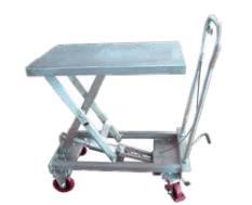 Push Around Stainless Steel Scissor Lift Tables