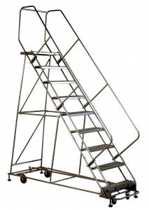 Rolling Safety Ladder Industrial Man Lifts
