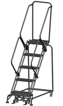 Rolling Steel Safety Ladder