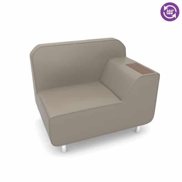 Serenity Series Left Arm Lounge Chair