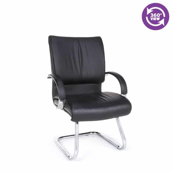 Sharp Series Leather Executive Guest Chair