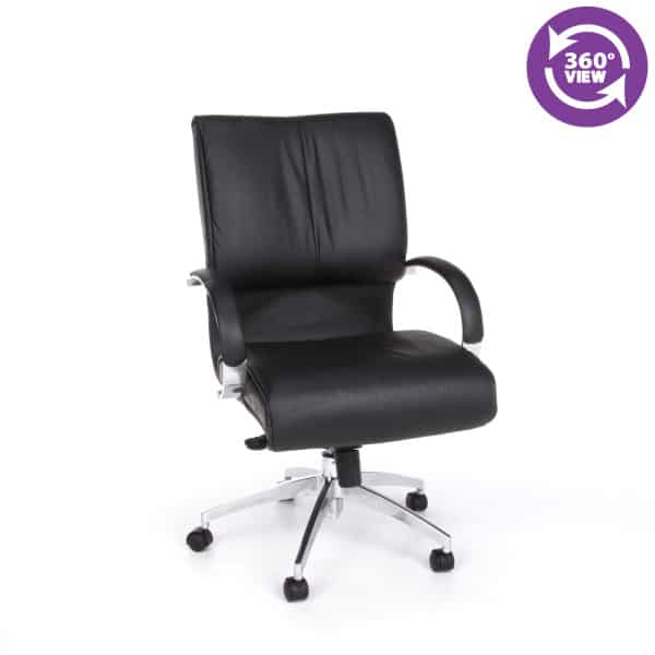 Sharp Series Leather Executive Mid-Back Chair