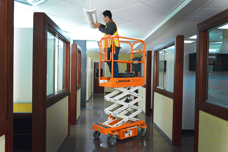 Snorkel S3010P Push-Around Mini Scissor Lifts