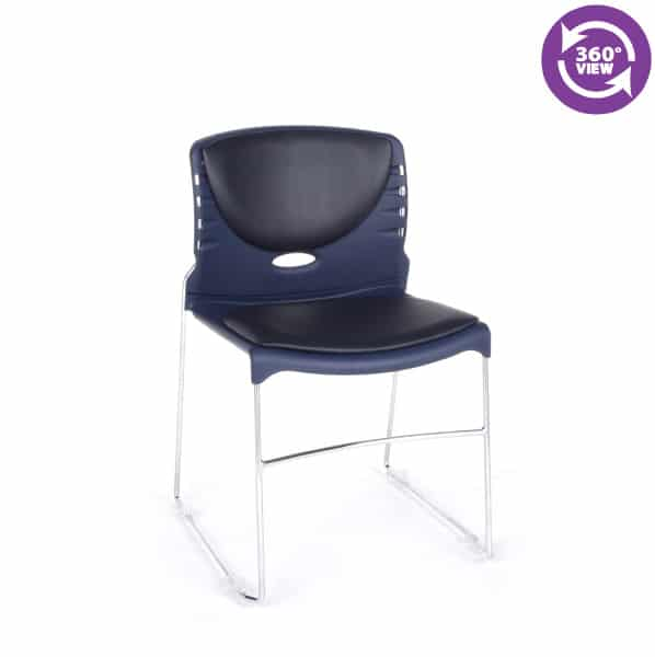 Stack Chair with Anti-MicrobialAnti-Bacterial Vinyl Seat & Back