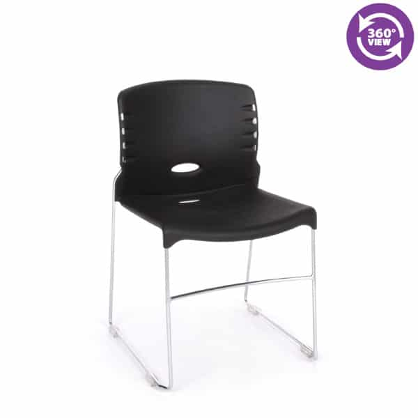 Stack Chair with Plastic Seat & Back