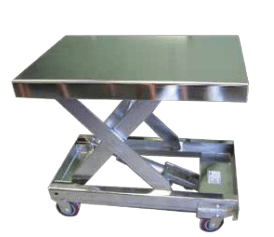 Stainless Steel Single & Double Portable Scissor Lift Tables