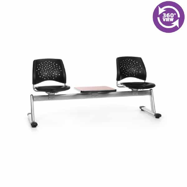 Stars 3-Unit Beam Seating with 2 Plastic Seats & 1 Table