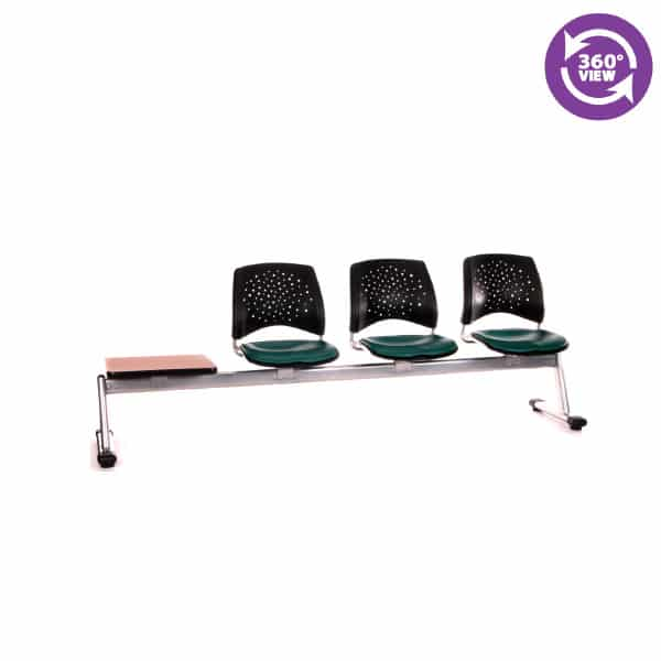 Stars 4-Unit Beam Seating with 3 Vinyl Seats & 1 Table