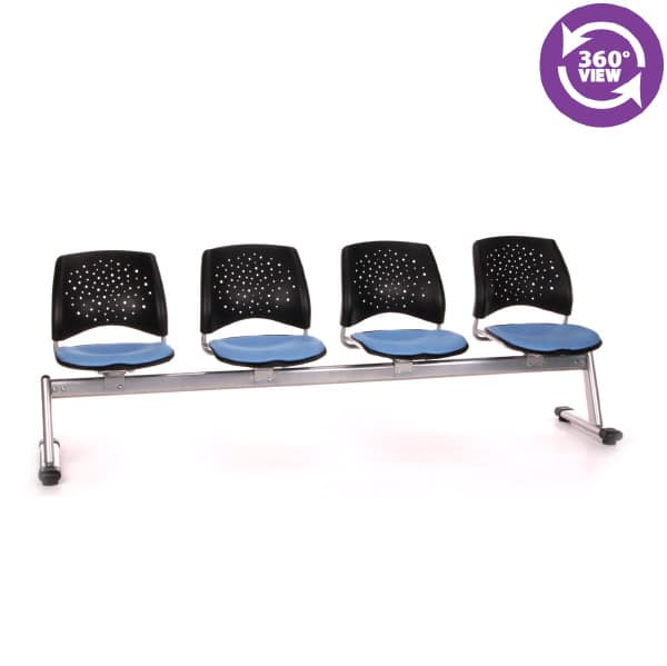 Stars 4-Unit Beam Seating with 4 Seats