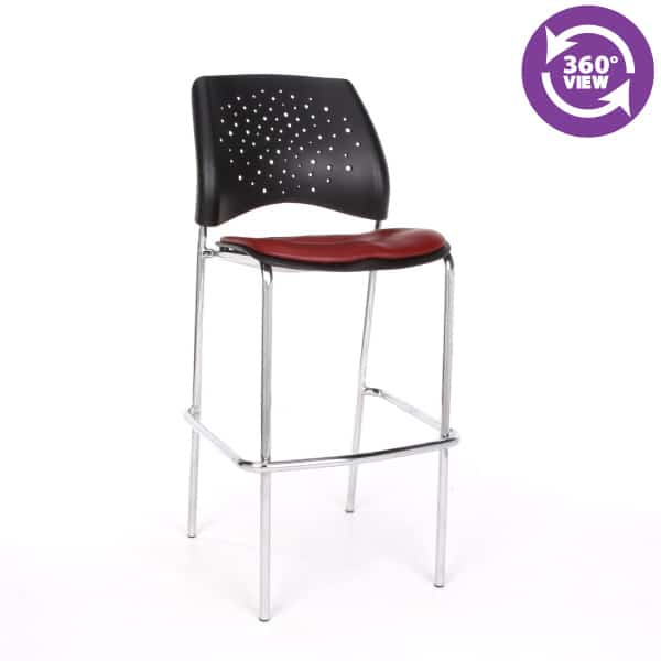 Stars Cafe Height Vinyl Chrome Chair