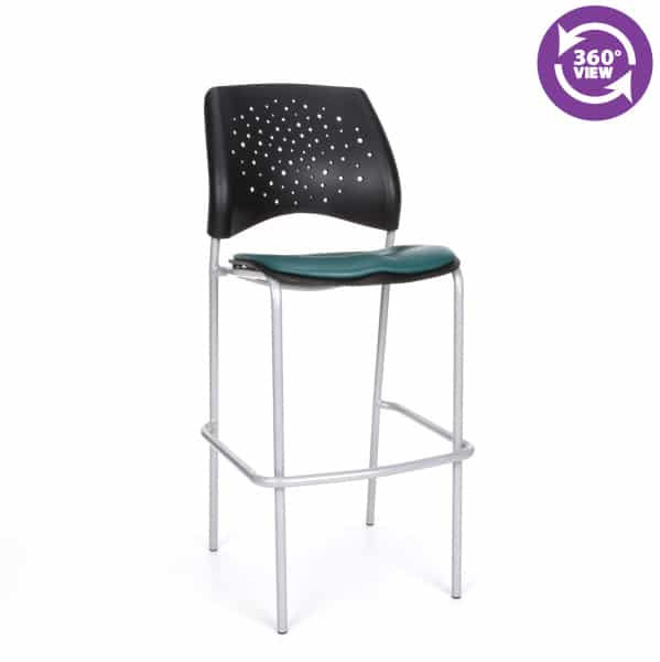 Stars Cafe Height Vinyl Silver Chair