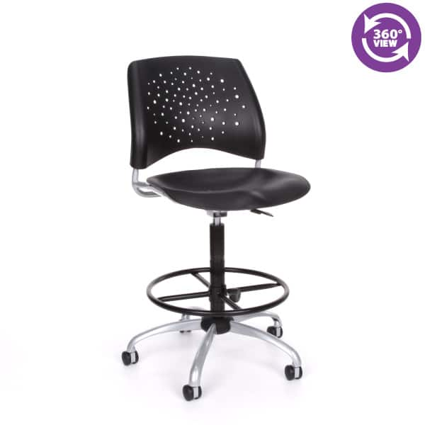 Stars Swivel Plastic Chair with Drafting Kit