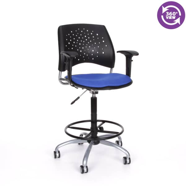 Stars Swivel Stool with Arms