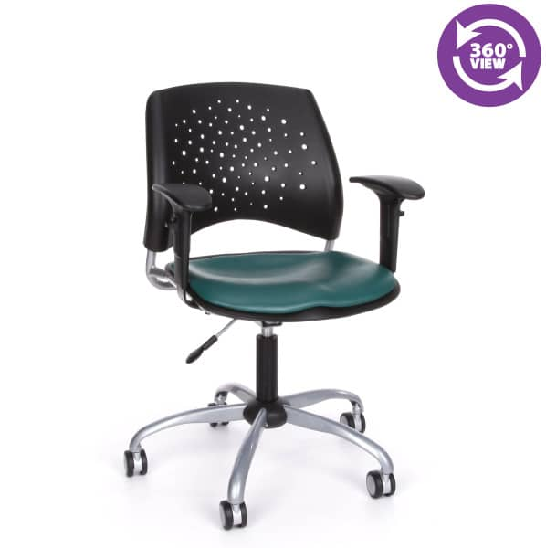 Stars Swivel Vinyl Chair with Arms
