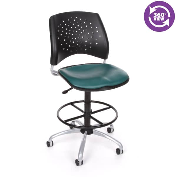 Stars Swivel Vinyl Chair with Drafting Kit