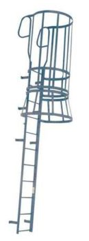 Steel Fixed Ladder with Safety Cage – M24WC C1