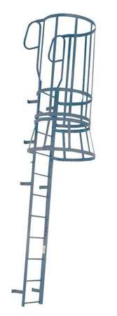 Steel Fixed Ladder with Safety Cage – M28WC C1