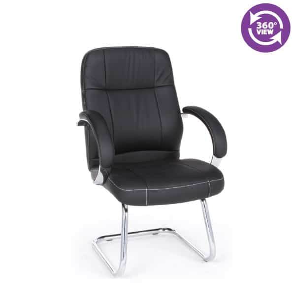 Stimulus Series Leatherette Executive Mid-Back Guest Chair