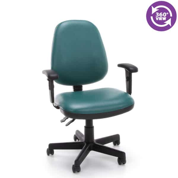 Straton Series Anti-MicrobialAnti-Bacterial Vinyl Task Chair with Arms