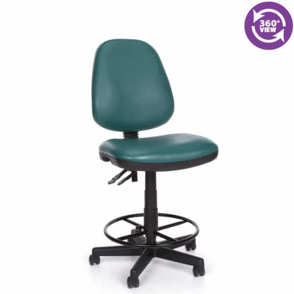 Straton Series Anti-MicrobialAnti-Bacterial Vinyl Task Chair with Drafting Kit