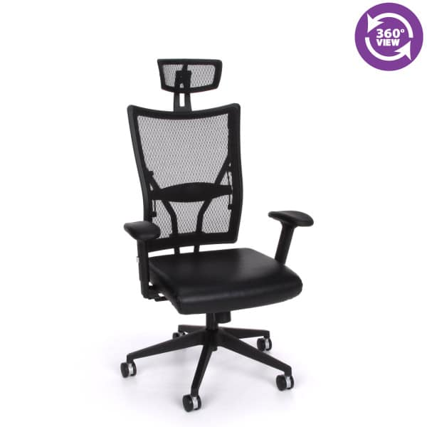 Talisto Series Executive High-Back Leather & Mesh Chair