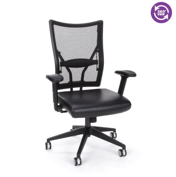Talisto Series Executive Mid-Back Leather & Mesh Chair