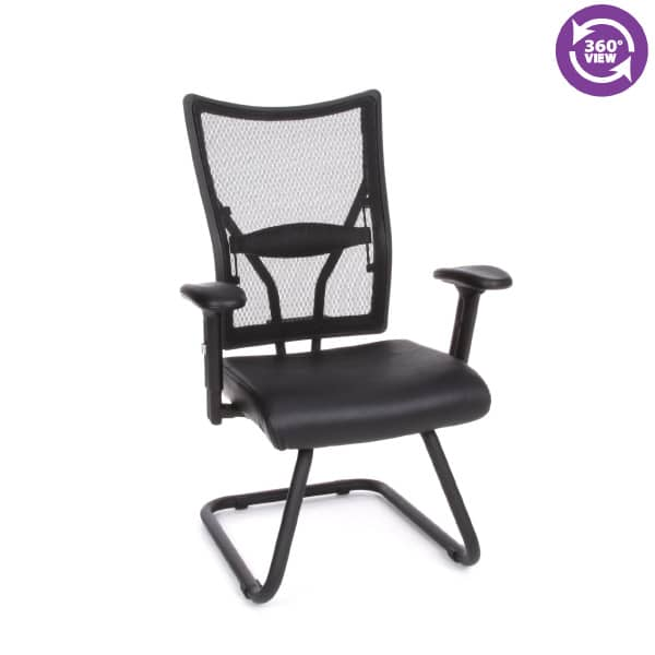 Talisto Series Executive Mid-Back Leather & Mesh Guest Chair
