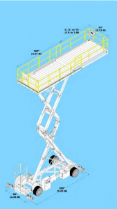 Telescopic Scissor Lift Maintenance Platform