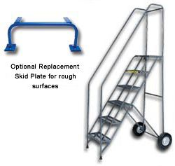 Thin Line Folding Rolling Safety Ladder