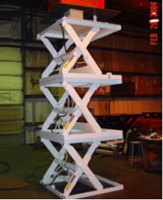 Triple High Scissor Lift Tables
