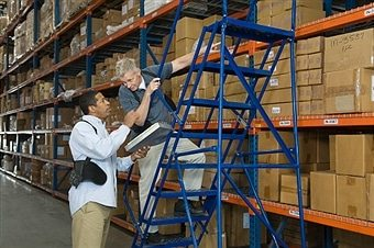 Shopping For Custom Warehouse Ladders From Industrial Man Lifts