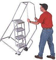 aluminum rolling ladders, cleanroom ladders