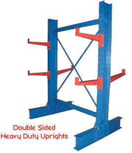 double sided heavy duty upright