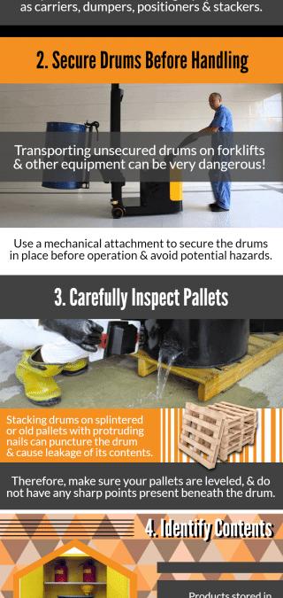 5 basics of Safe Drum Handling – Infographic