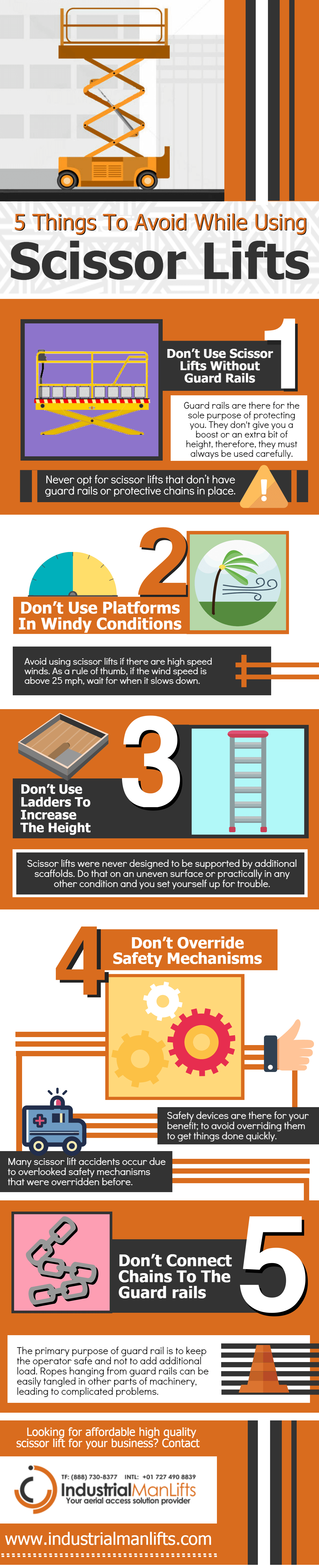 5 Things to Avoid While Using Scissor Lifts