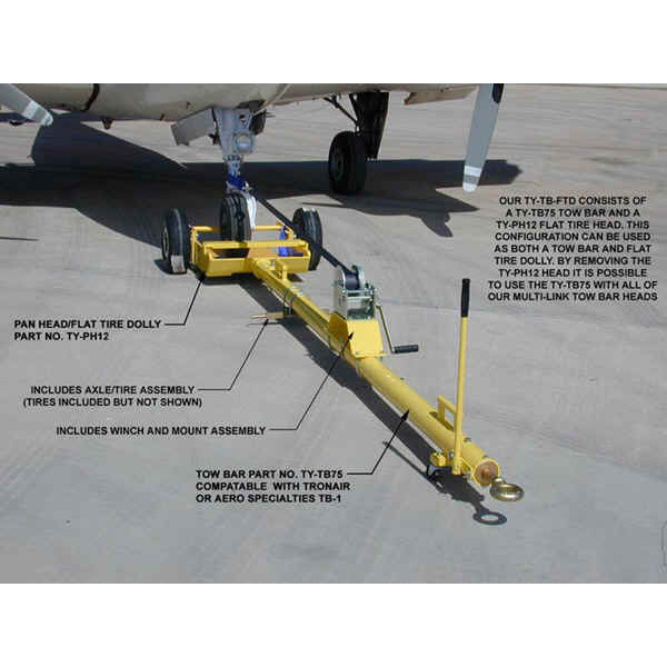 Multi-Link Aircraft Towbar TY-TB75