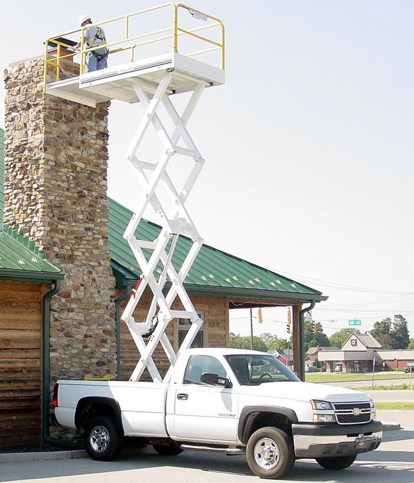 Truck Mounted Scissor Lift Industrial Man Lifts