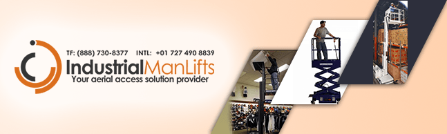 single man lift, industrial man lifts, stock picker